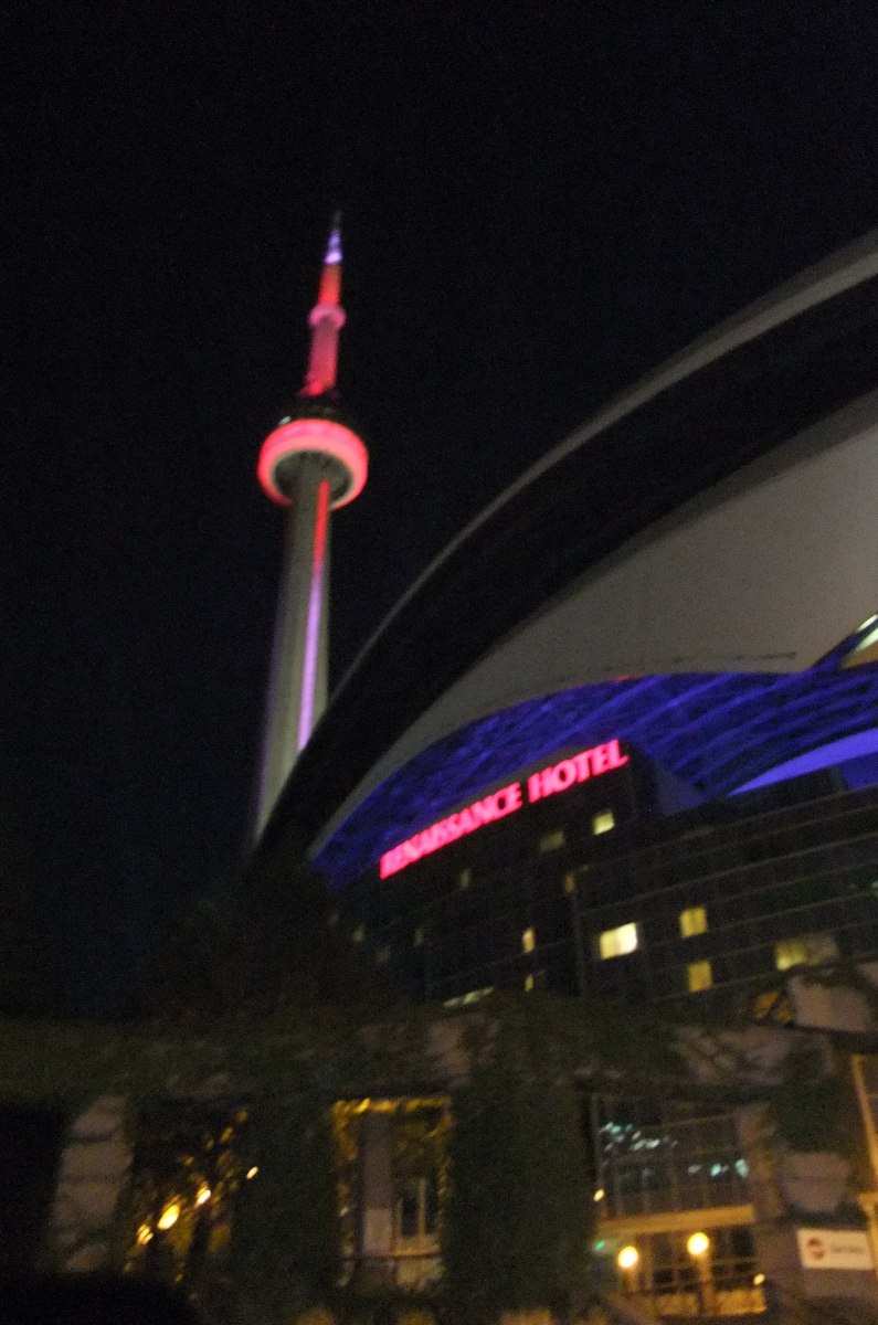 Toronto's CN Tower and the ballpark formerly known as SkyDome